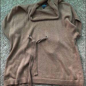 Tan Maternity lightweight Short-sleeve  sweater 2x